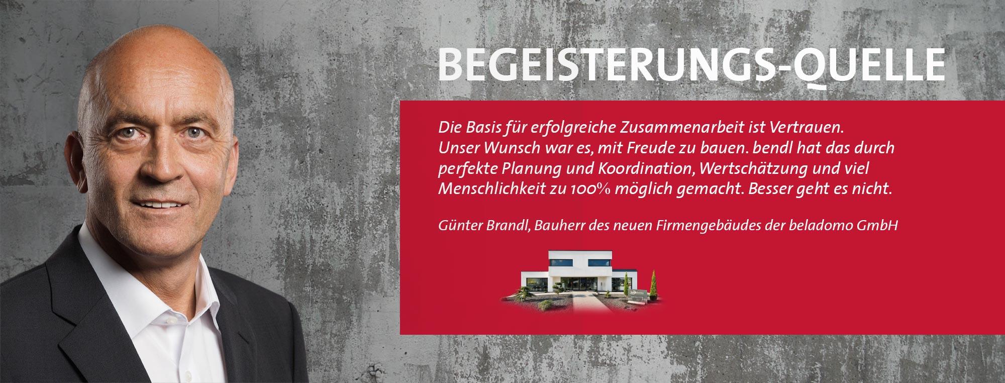Günter Brandl - beladomo GmbH Edelwasser-Manufaktur