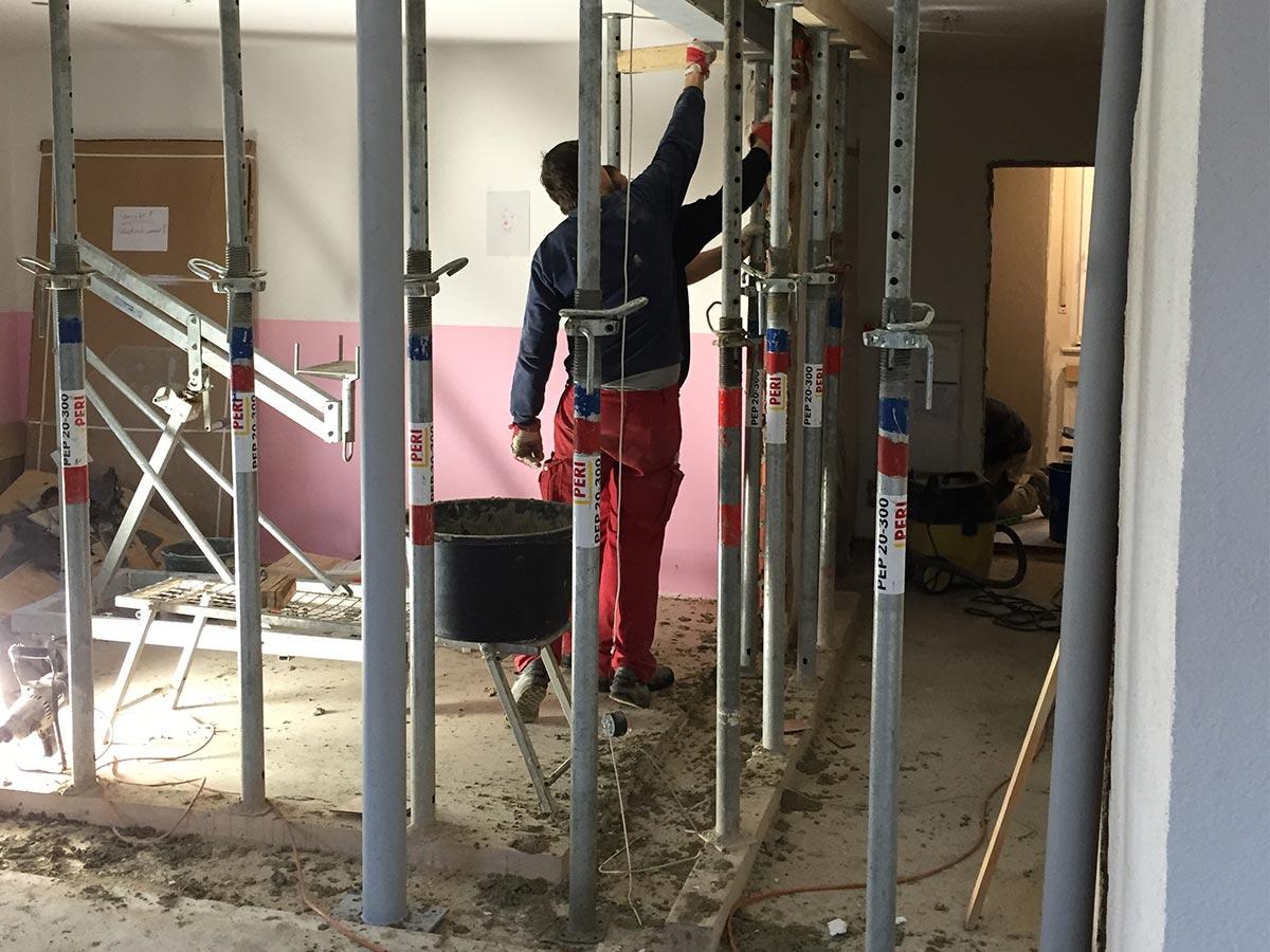 Räumlichkeiten vor der Renovierung durch den bendl Bauschnelldienst