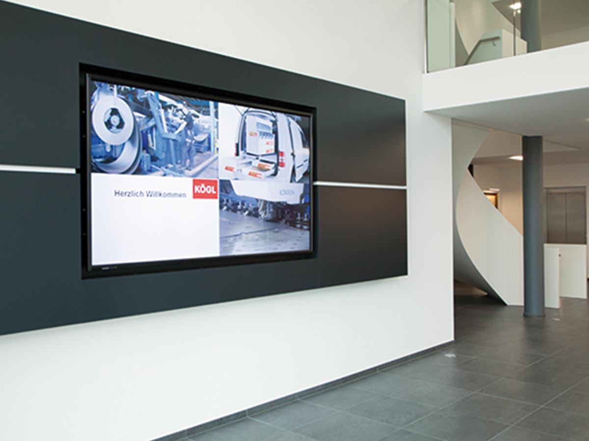 Eingangsbereich bei der Firma Kögl GmbH