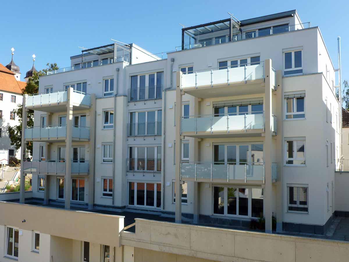 Aussenansicht der Residenz Bellevue in Günzburg