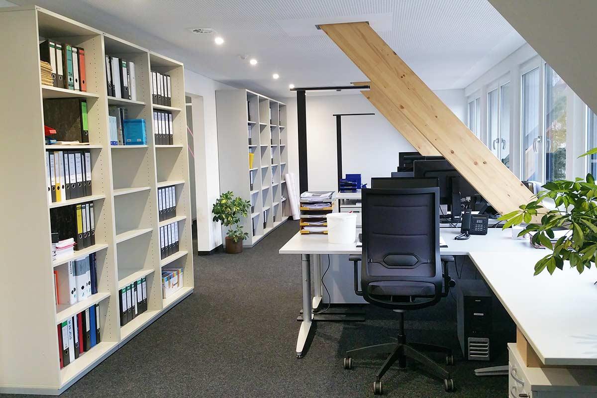 Einladende und freundliche Büroräume beim Ingenieurbüro Degen