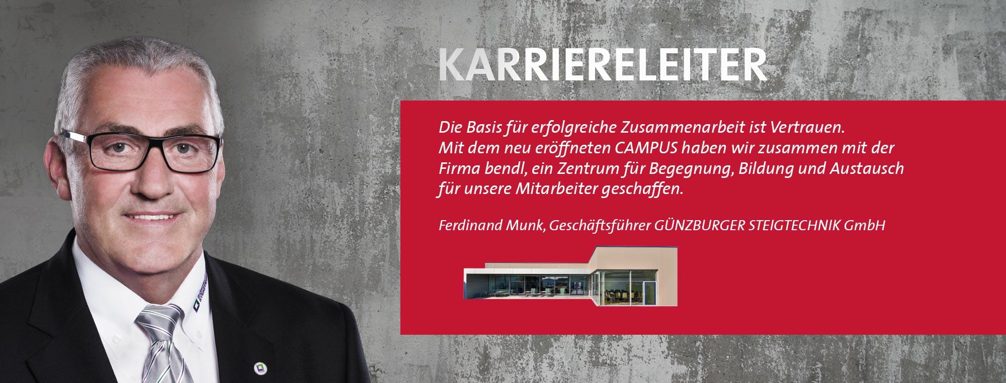 Ferdinand Munk - GÜNZBURGER STEIGTECHNIK GmbH