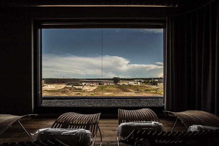 Geschäftshaus XLNC gigantischer Ausblick aus dem Ruheraum