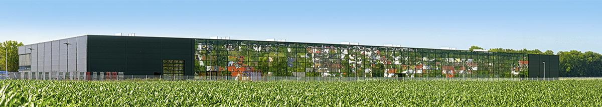 Die Fertigungshalle und Produktionshalle der Firma Gugelfuss in voller Pracht