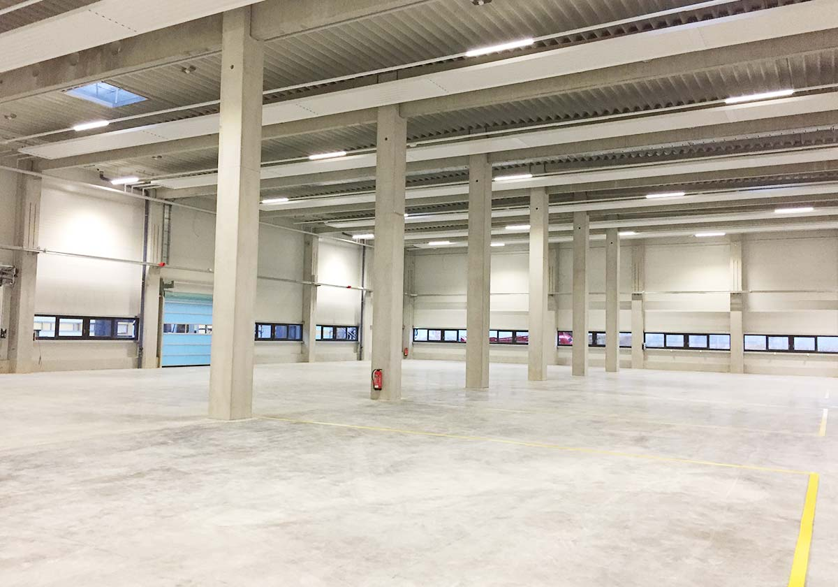 Fertigungshalle Verotec in Lauingen Bauunternehmen
