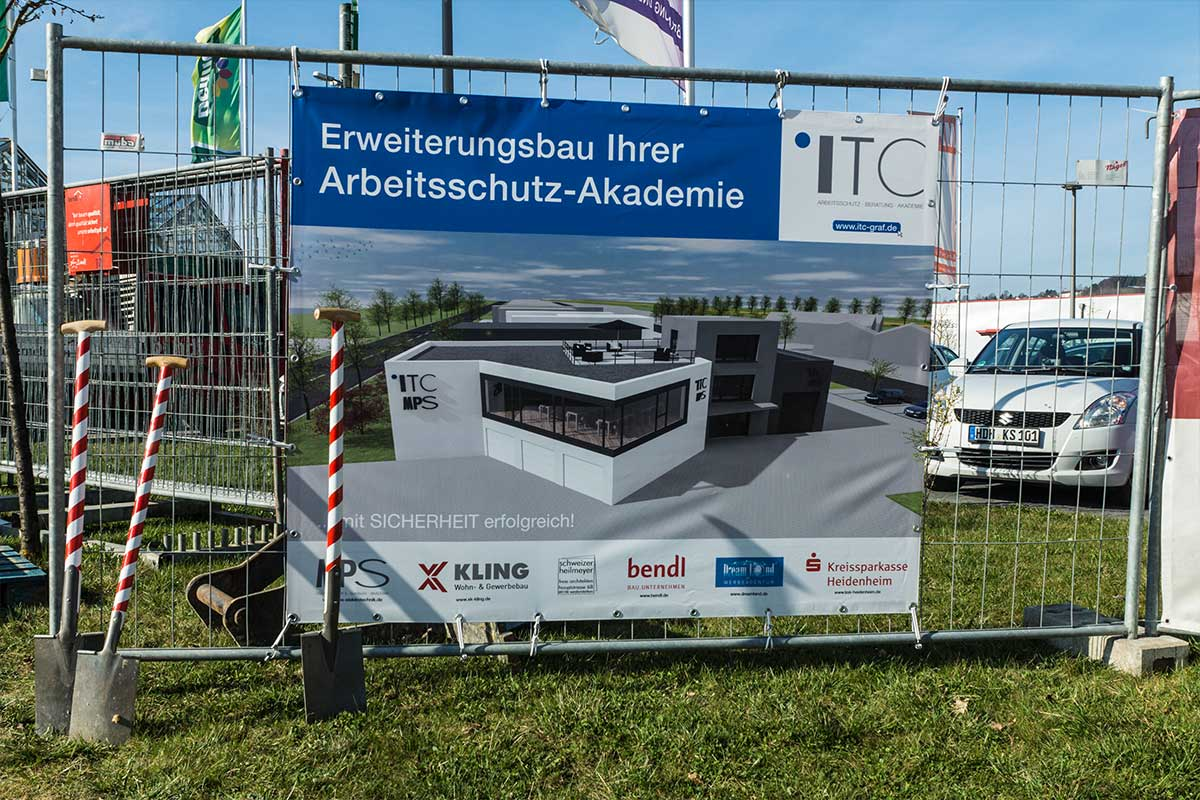 Erweiterungsbau für den neuen Seminarbereich bei ITC Graf