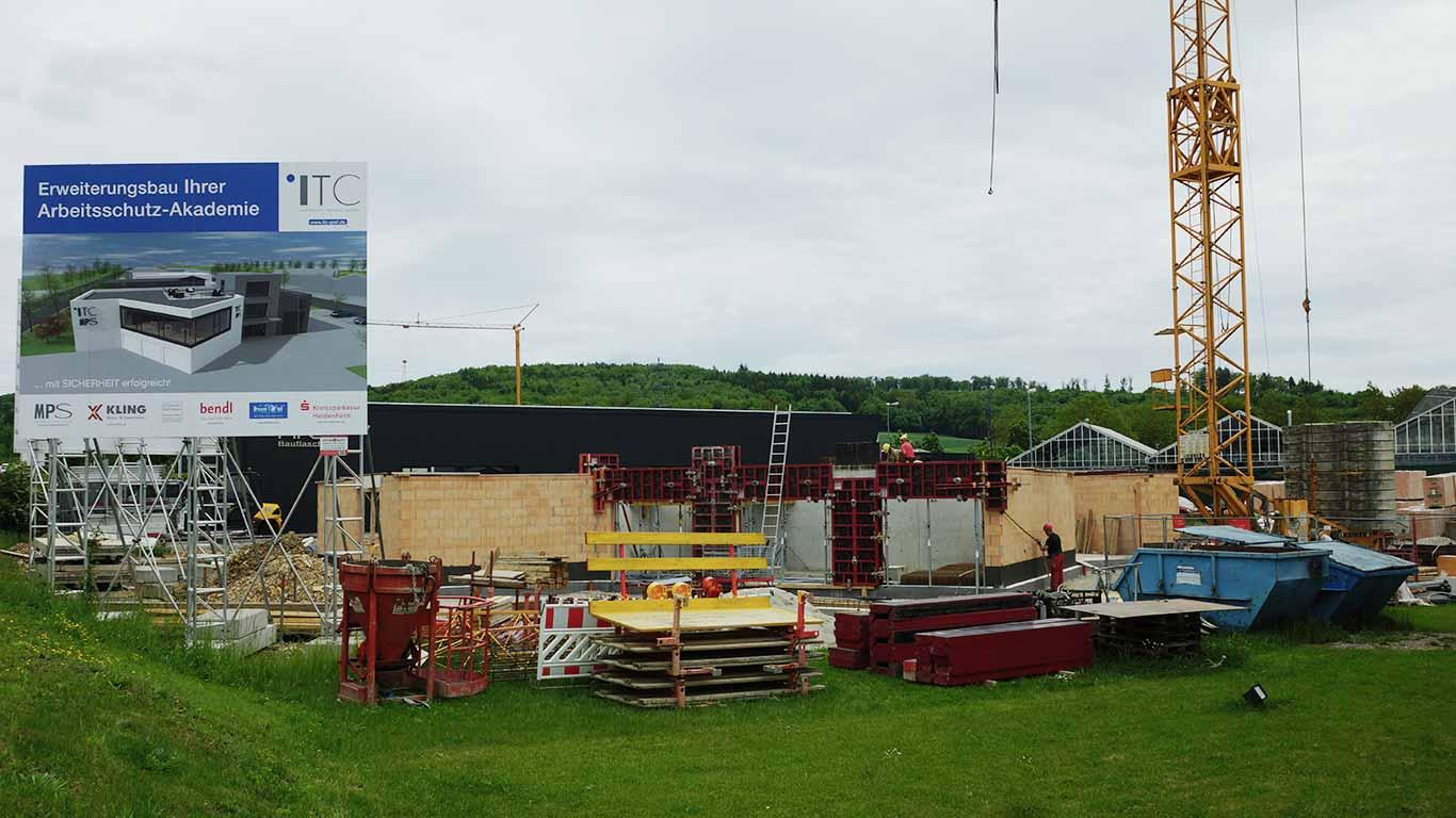 Der Erweiterungsbau bei der ITC Graf GmbH