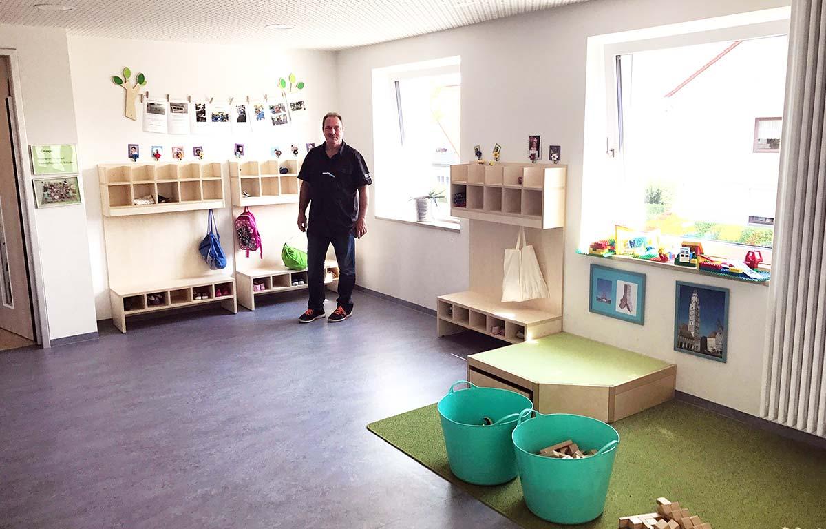 reichlich Platz im Kinderhaus in Lauingen.