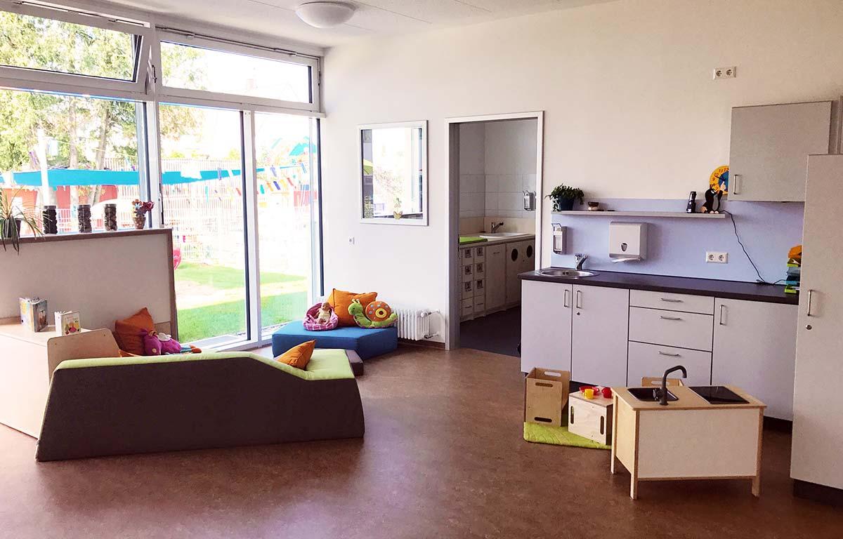 Die frisch sanierten und renovierten Räumlichkeiten im Kinderhaus.