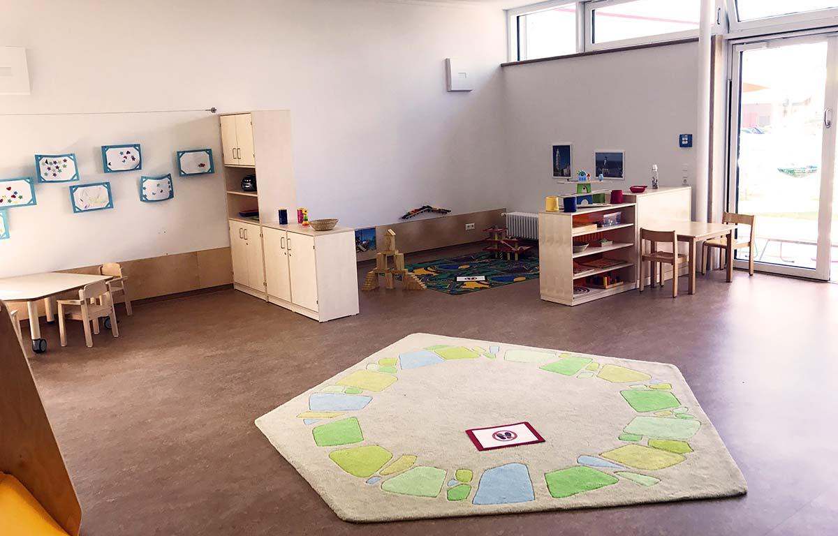 Helle und freundliche Räume im frisch sanierten Kinderhaus in Lauingen.
