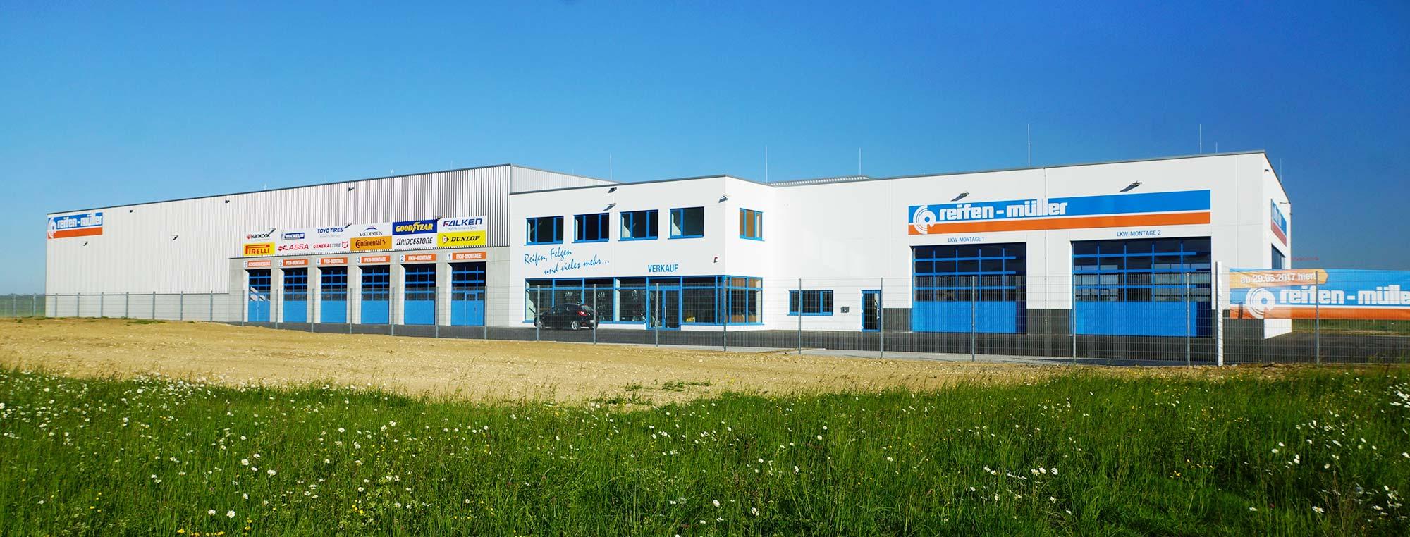 Neubau der Reifenmontagestation der Firma Reifen Müller in Leipheim
