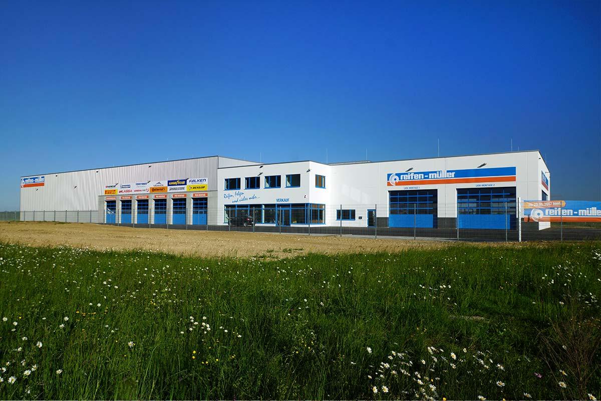 Die neue Niederlassung der Reifen Müller GmbH & Co. KG in Leipheim