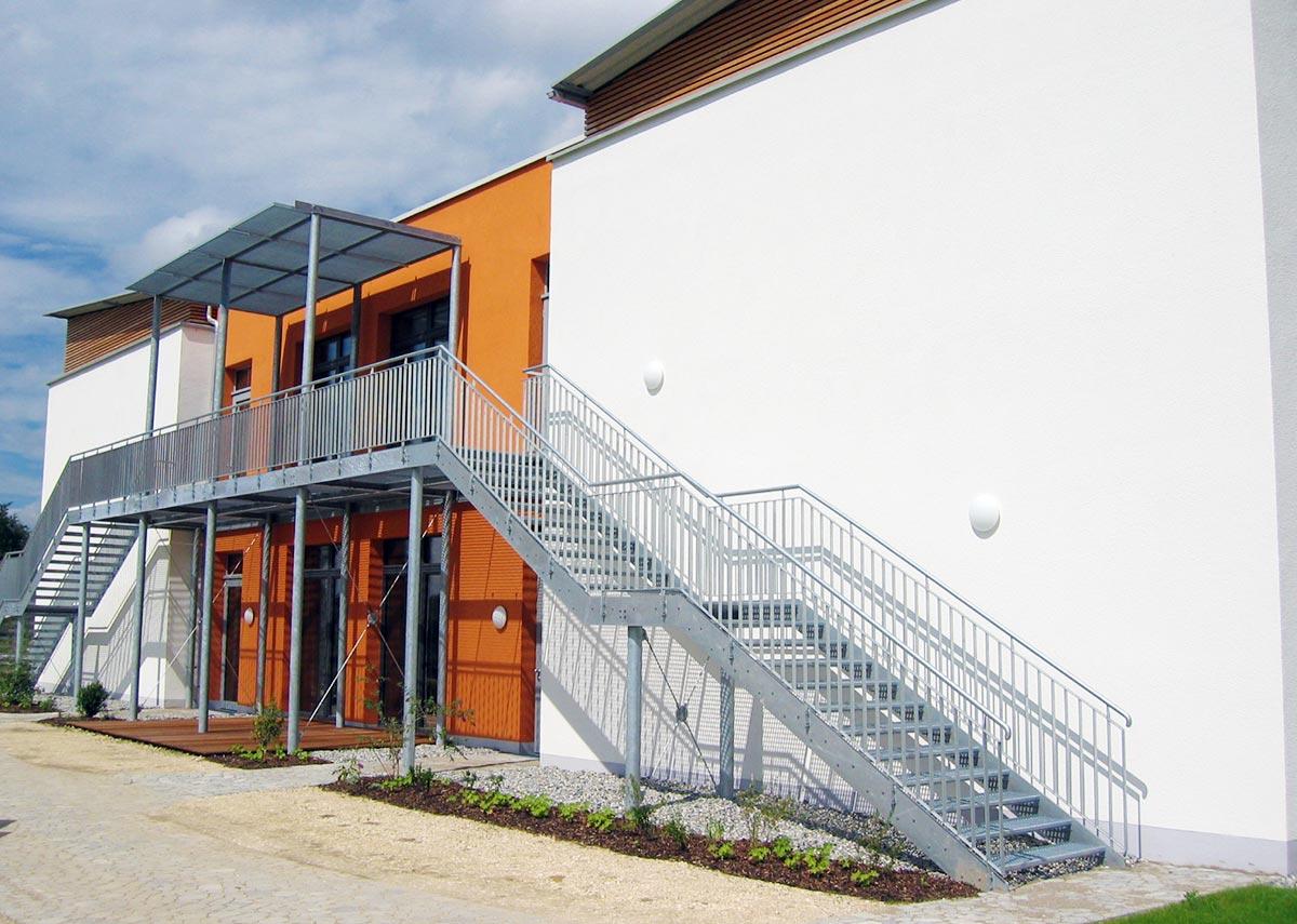 Fluchttreppe der Grundschule Süd-Ost