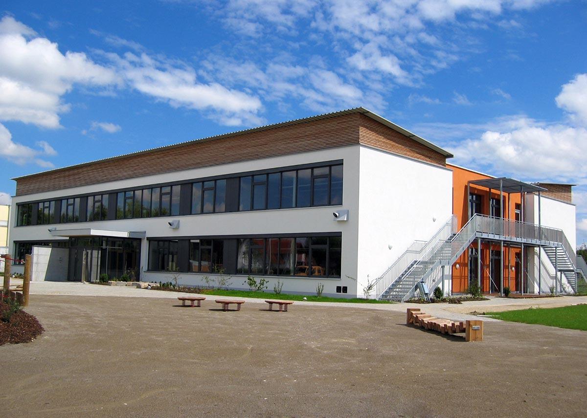 Eine ansprechende Schule in Passivbauweise