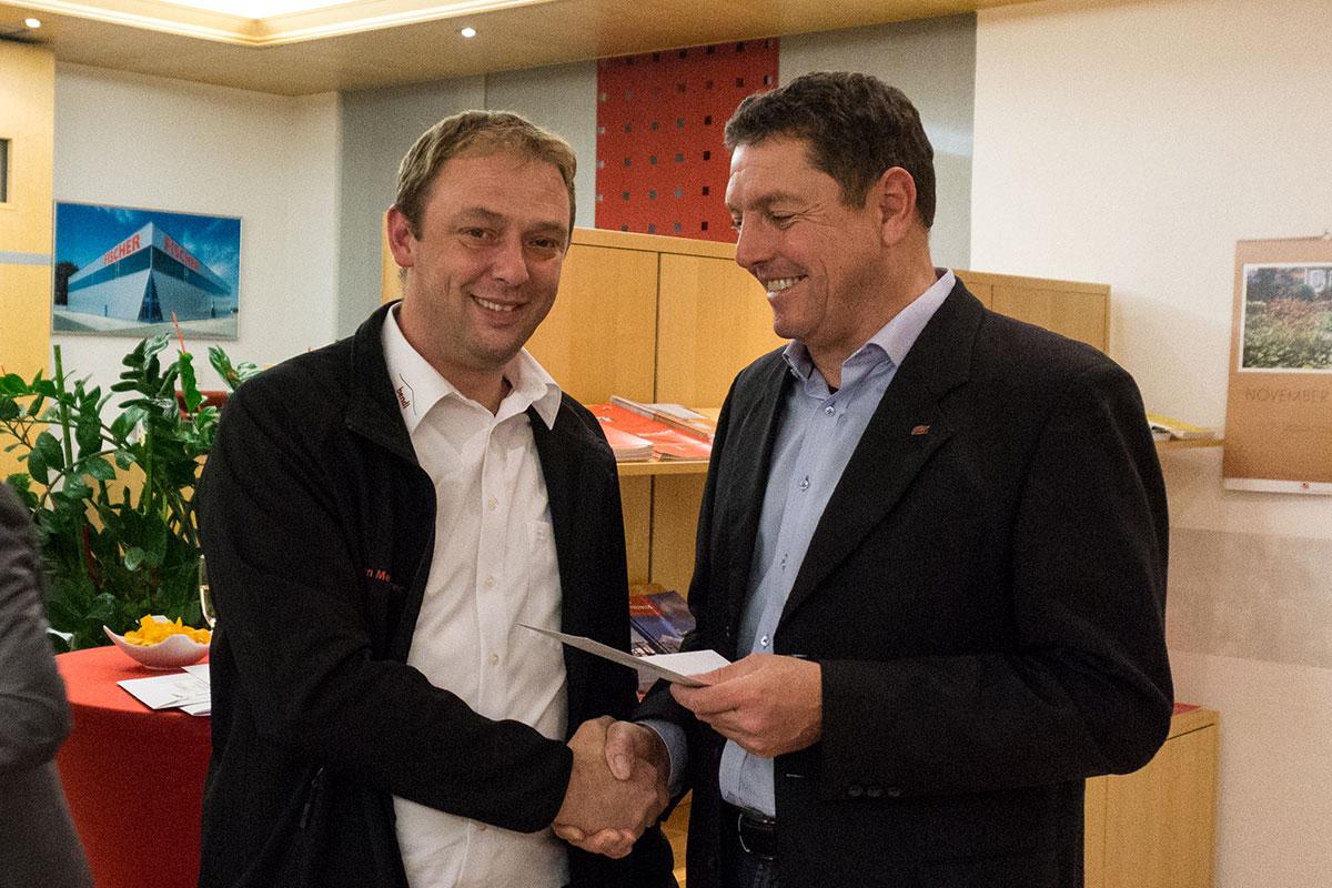 Bauschnelldienst-Abteilungsleiter Mladen Medimurec wurde für einen Schnitt von 1,30 geehrt.