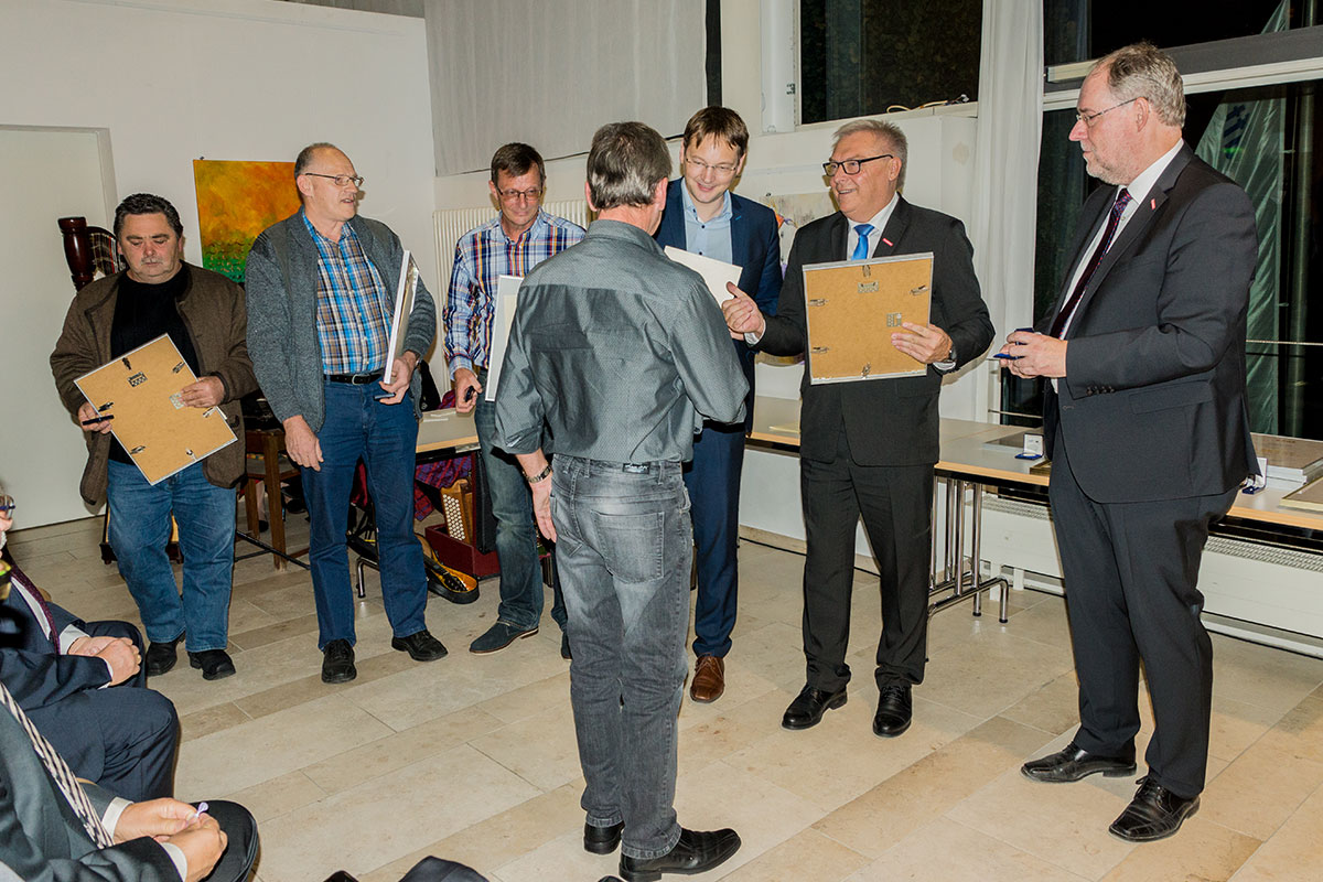 Harald Kraus feiert ebenfalls 40 Jahre Betriebszugehörigkeit beim Bauunternehmen bendl