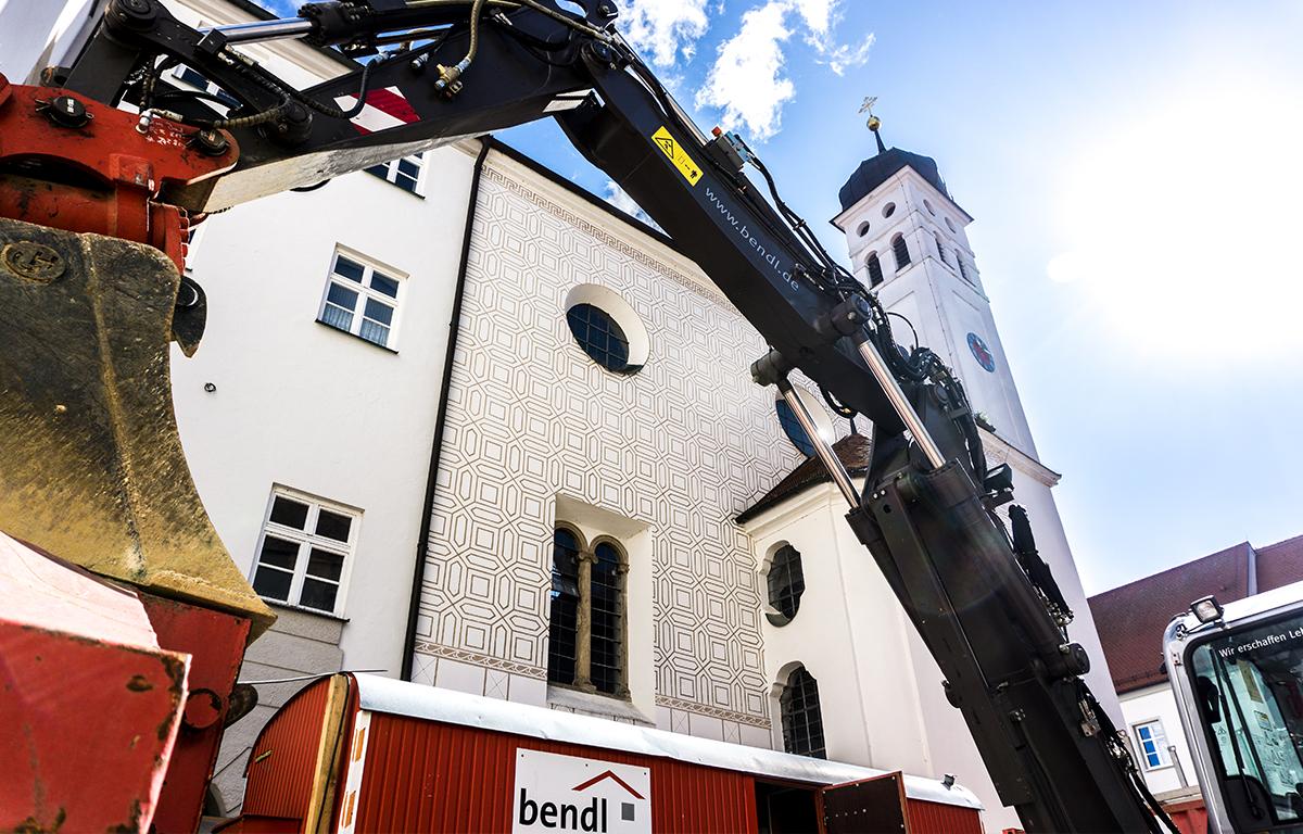 Bauunternehmen bendl aus Günzburg bei der Generalsanierung des Stadtschlosses