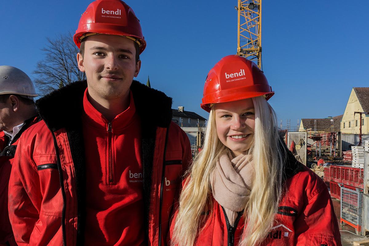 Die hwk Rekordpraktikanten - Marvin und Charlotte beim 40. Praktikum beim Bauunternehmen bendl in Günzburg