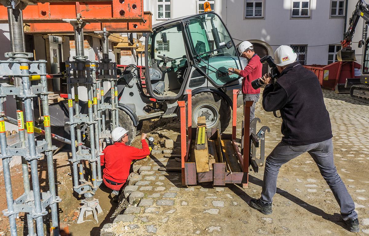 PERI als geschätzter Partner dokumentiert die Baustelle beim Finanzamt in Günzburg vom Bauunternehmen bendl