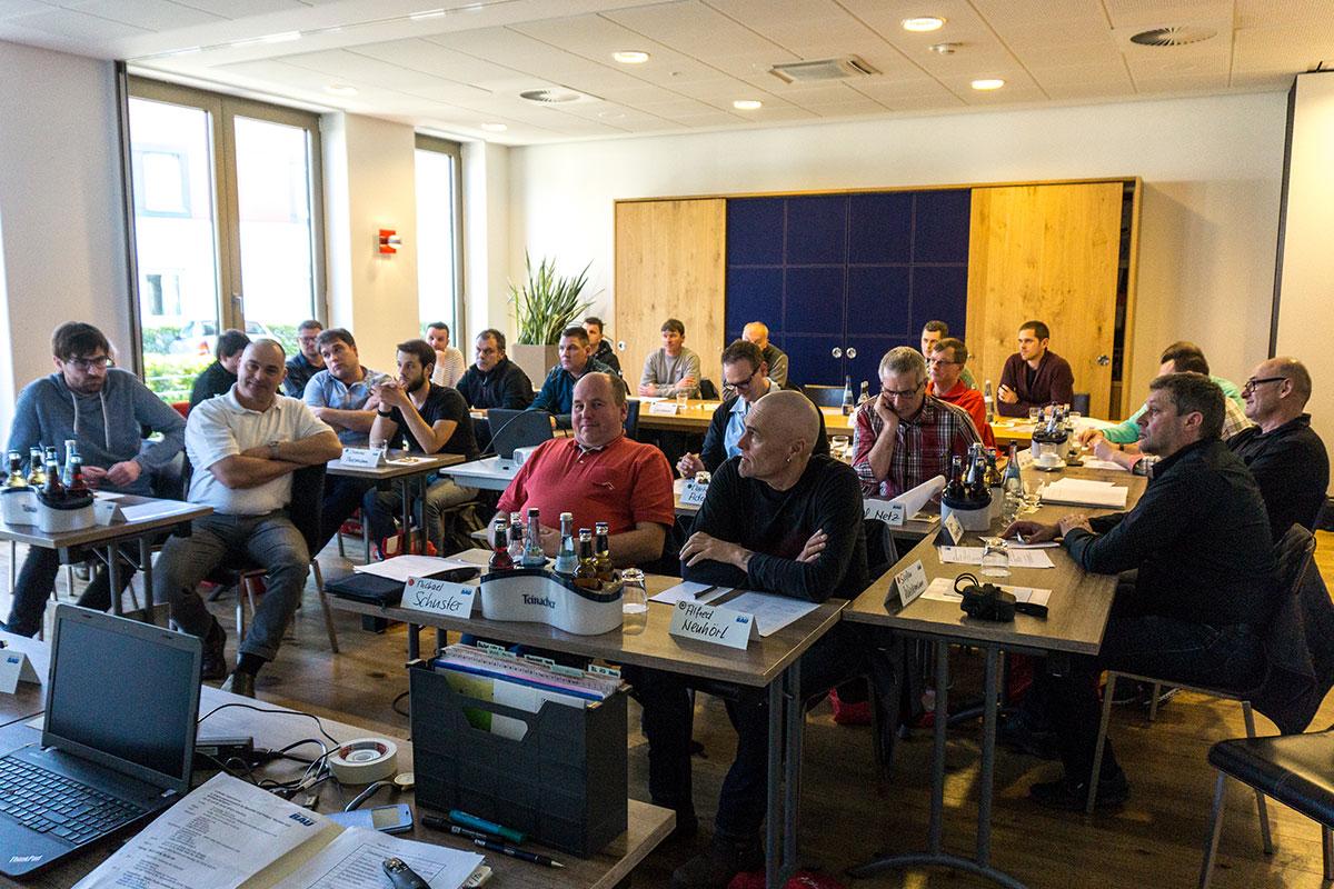 Erfa-Tagung 2018 Bauberater Team beim Günzburger Bauunternehmen bendl
