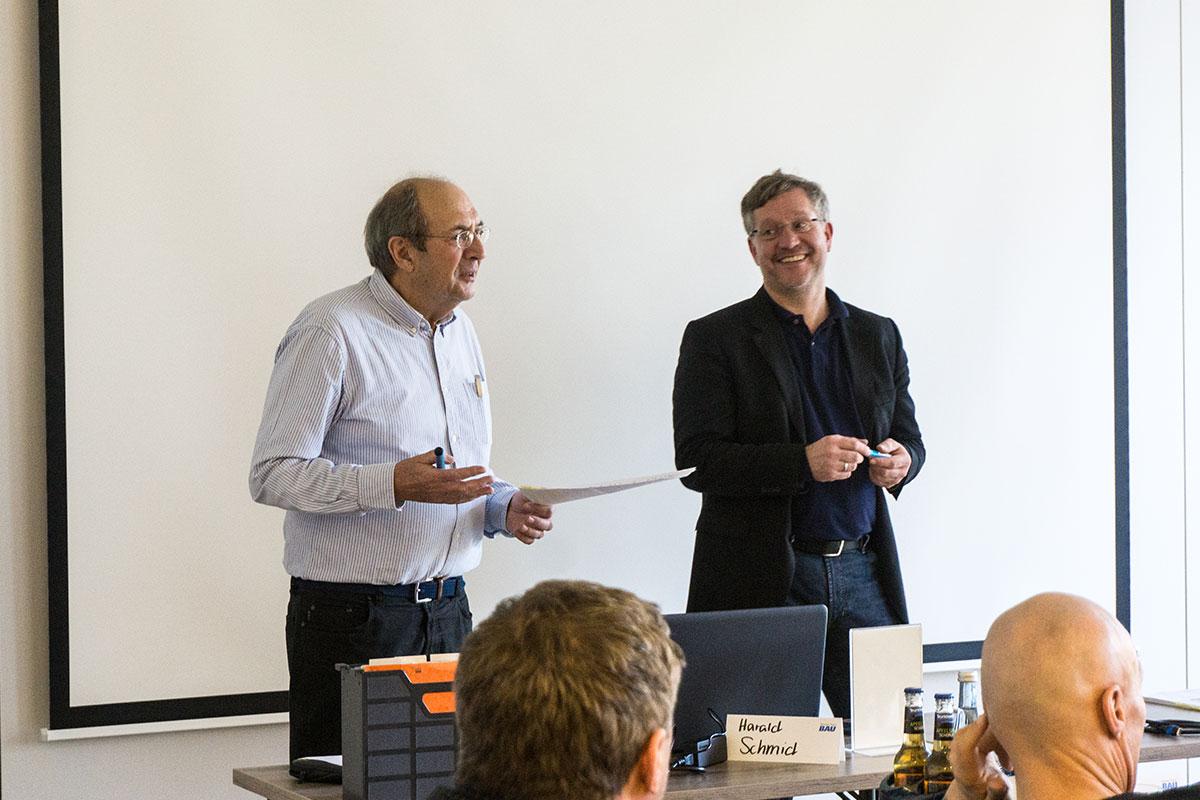 Harald Schmid und Marcus Gruber führten gekonnt durch die Themen der diesjährigen Erfa-Tagung