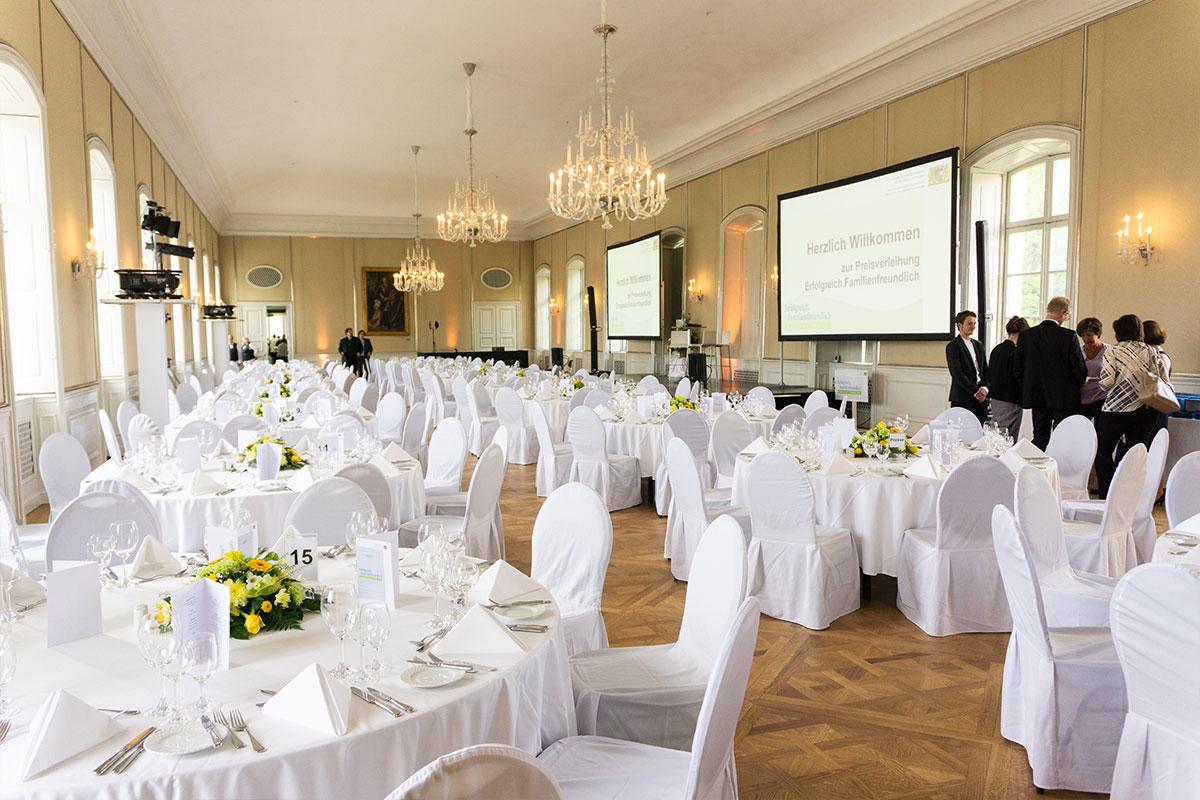 Der Festsaal im Schloss Nymenburg, in dem die Preisverleihung stattfand.
