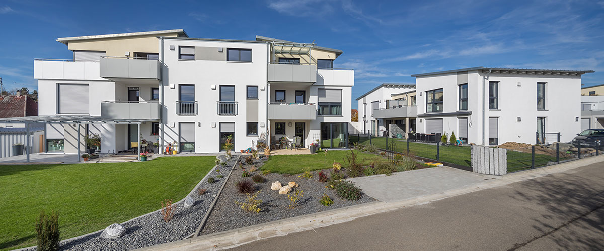 Schlüsselfertiger Wohnanlage mit fünf Mehrfamilienhäusern in Pfaffenhofen
