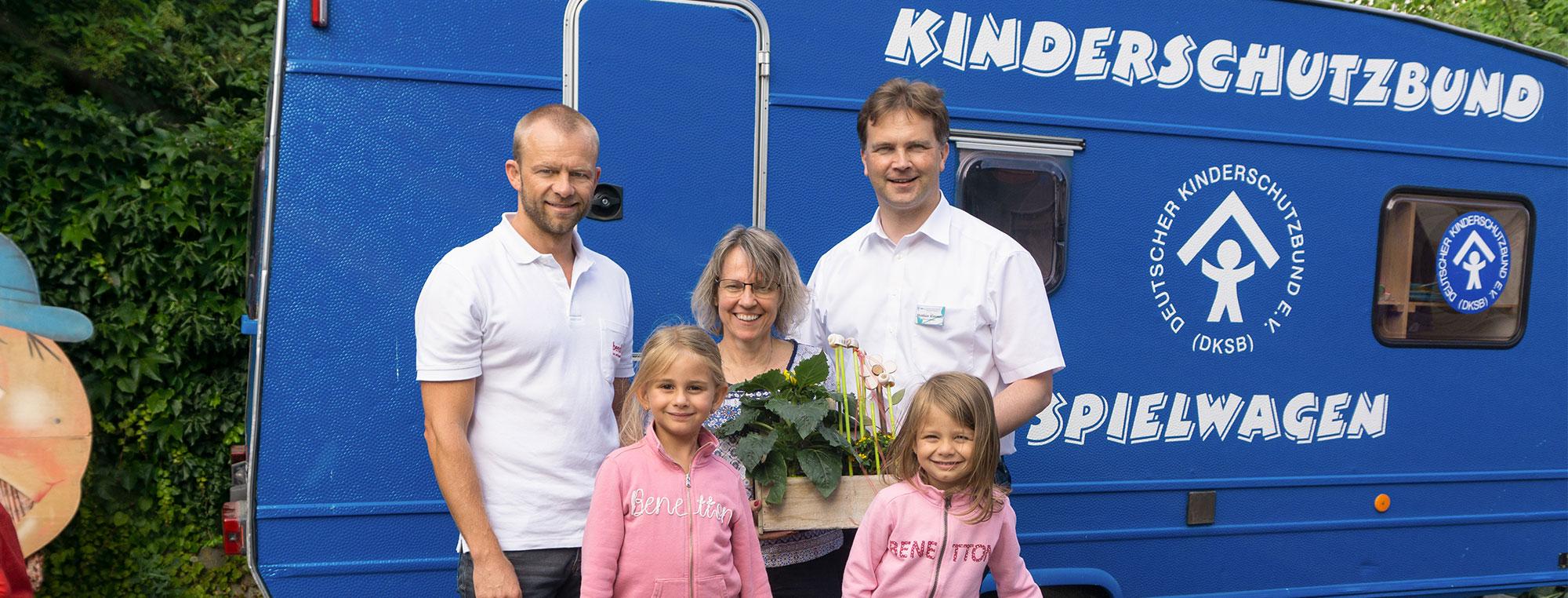 Spendenaktion: Einmal spenden zweimal helfen. bendl spendet eine Bewegungsbaustelle einer Behindertenwerkstatt an den Kinderschutzbund Günzburg.