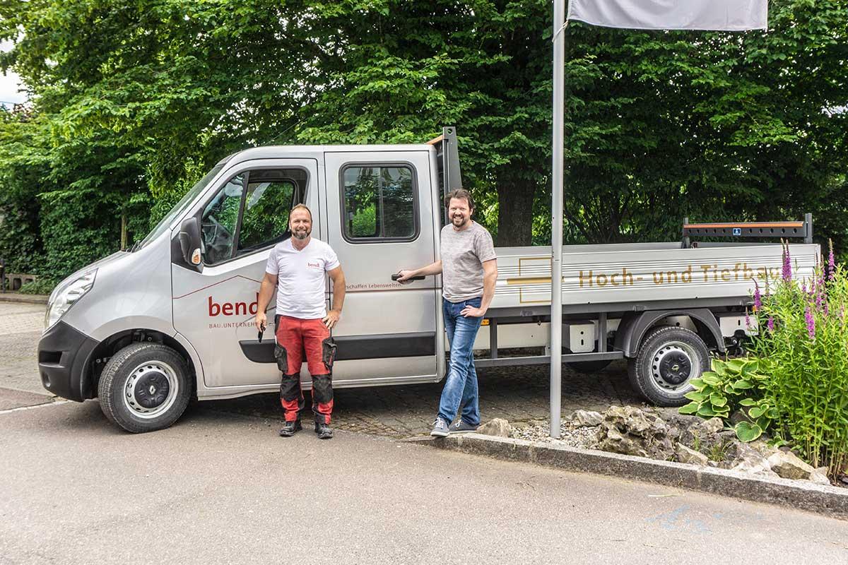 Ein neues Pritschenfahrzeug für unseren Hochbauspezialisten Ralf Gerstbeger