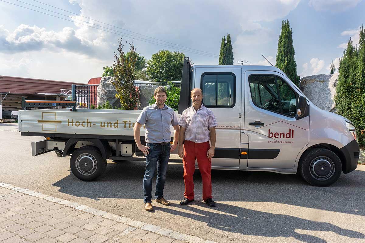 Ein neues Pritschenfahrzeug für unseren Hochbauspezialisten Markus Miller