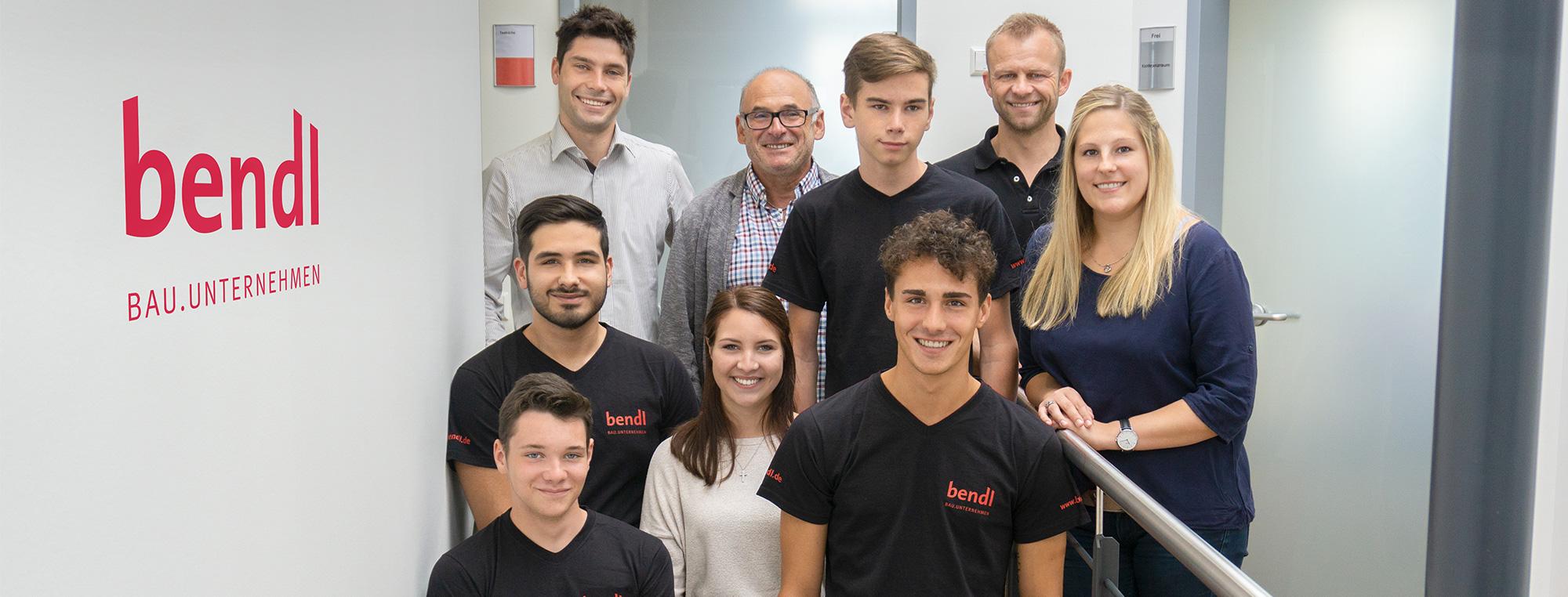 Fünf neue Azubis starten 2018 ihre Karriere beim Bauunternehmen bendl in Günzburg