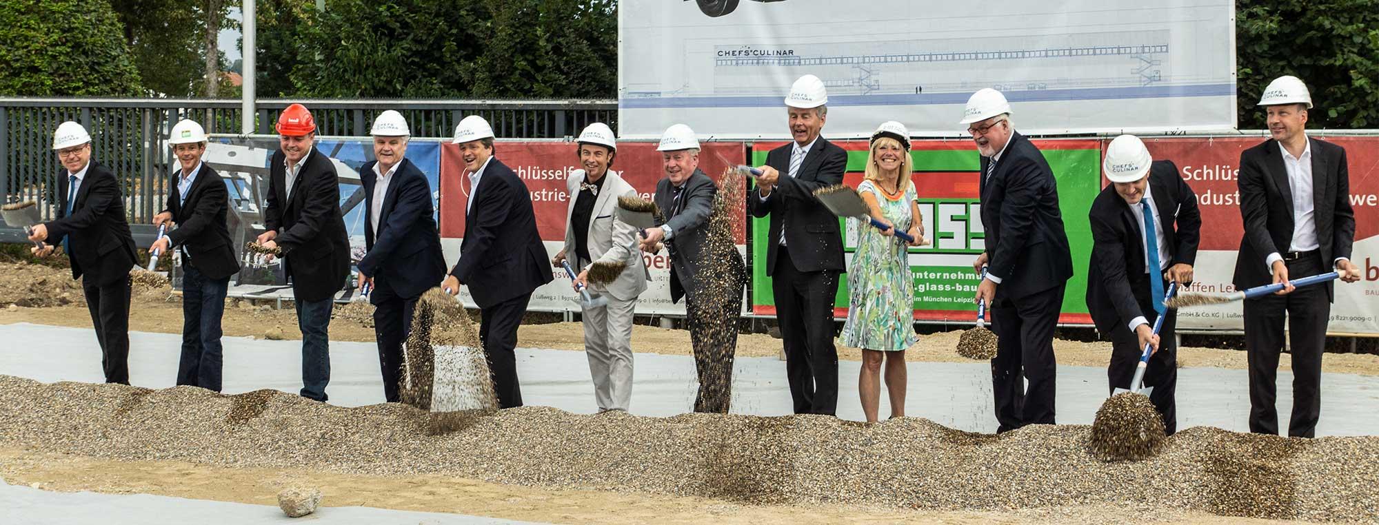 CHEFS CULINAR feiert Spatenstich für die 20 Mio. Euro Standorterweiterung in Zusmarshausen
