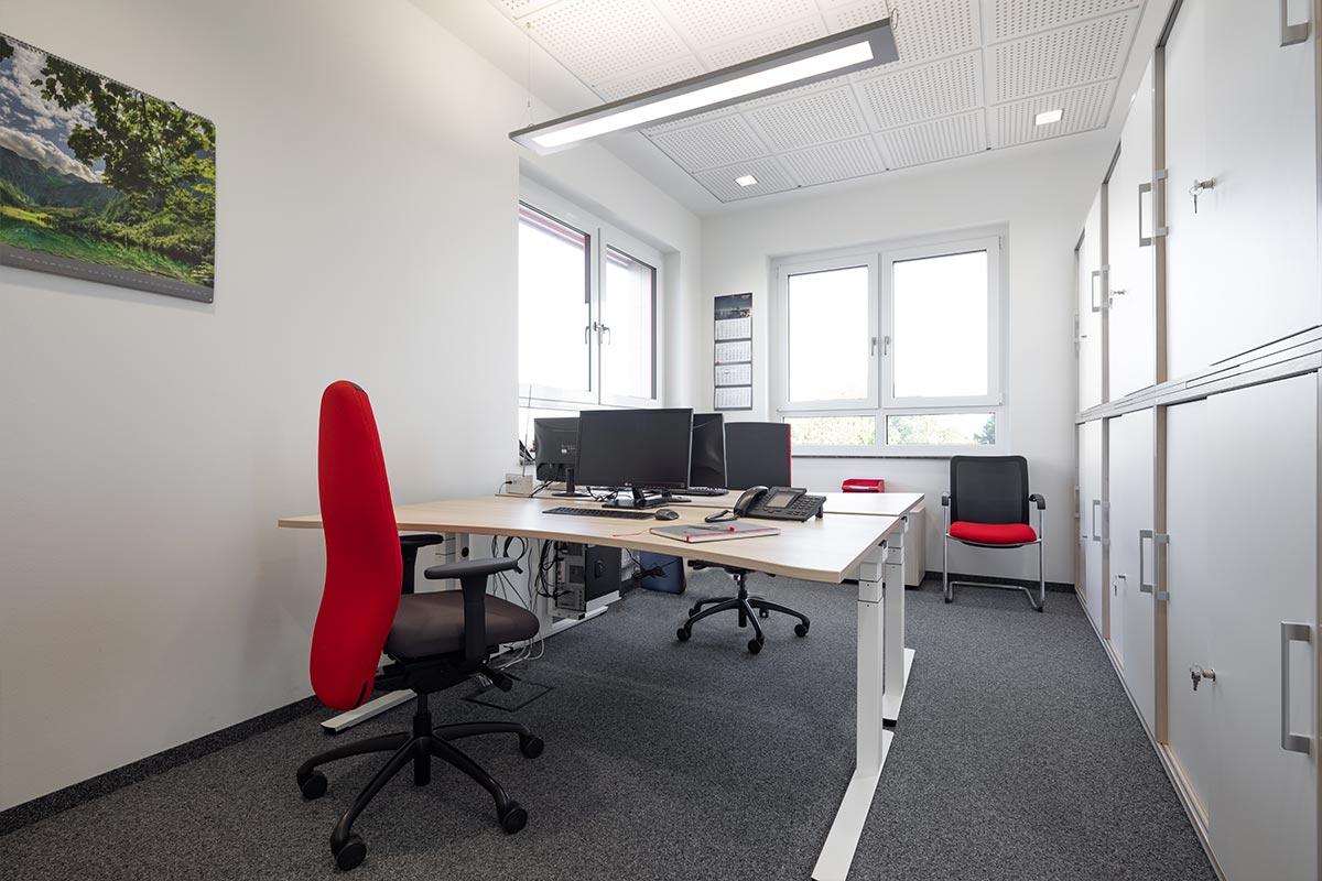 Ein weiteres Beispiel für ein neues Zweierbüro beim Bauunternehmen bendl.
