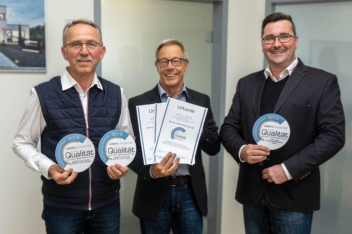 Dreifache Auszeichnung für die bendl Kanalsanierung.