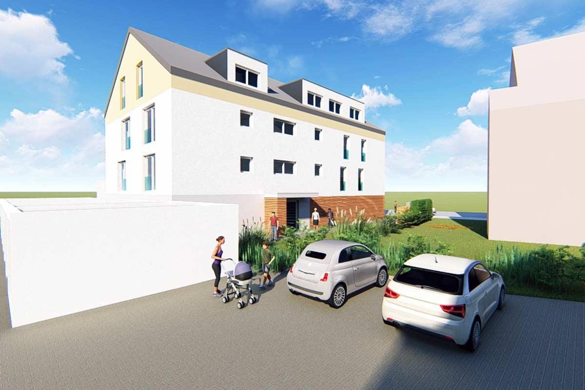 Neubau von drei Mehrfamilenhäusern in Sontheim an der Brenz.