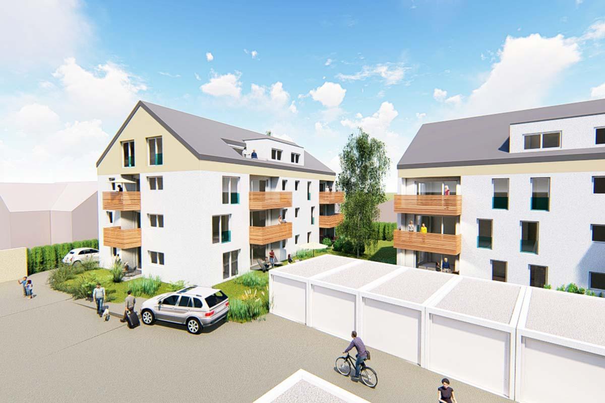 Die Wohnanlage Südherz verfügt über Eigentumwohnungen mit 2 bis 4 Zimmer Wohnungen.