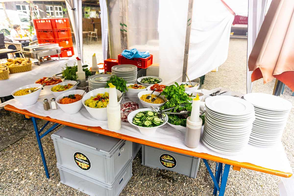 Der Eventcateringservice Portobello tischte leckere Speisen bei unserem bendl Sommerfest 2019 auf