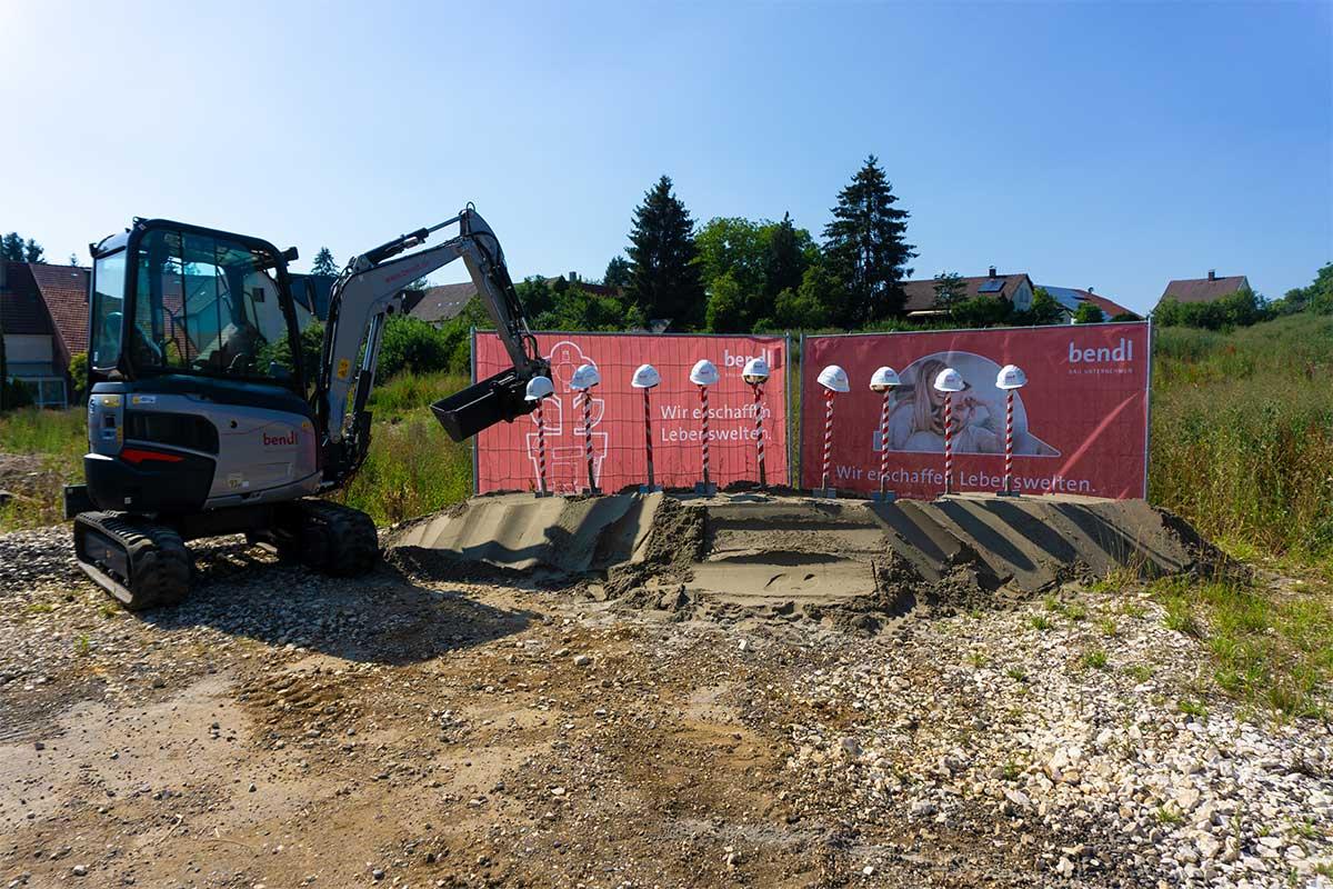Drei Mehrfamilienhäuser mit 40 Eigentumswohnungen entstehen in Gerstetten. Im Sommer 2021 werden diese bezugsfertig sein.