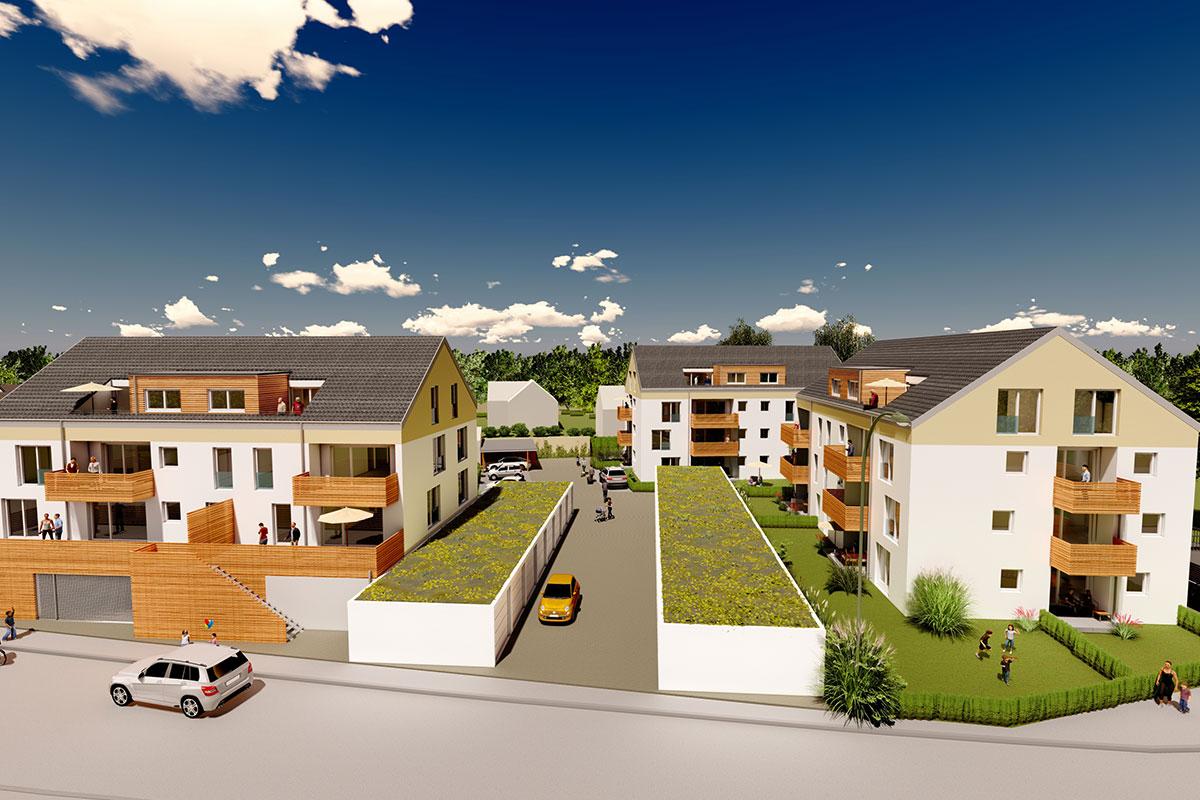 Drei tolle Mehrfamilienhäuser mit barrierefreien Eigentumswohnungen warten auf Sie. Jetzt informieren.