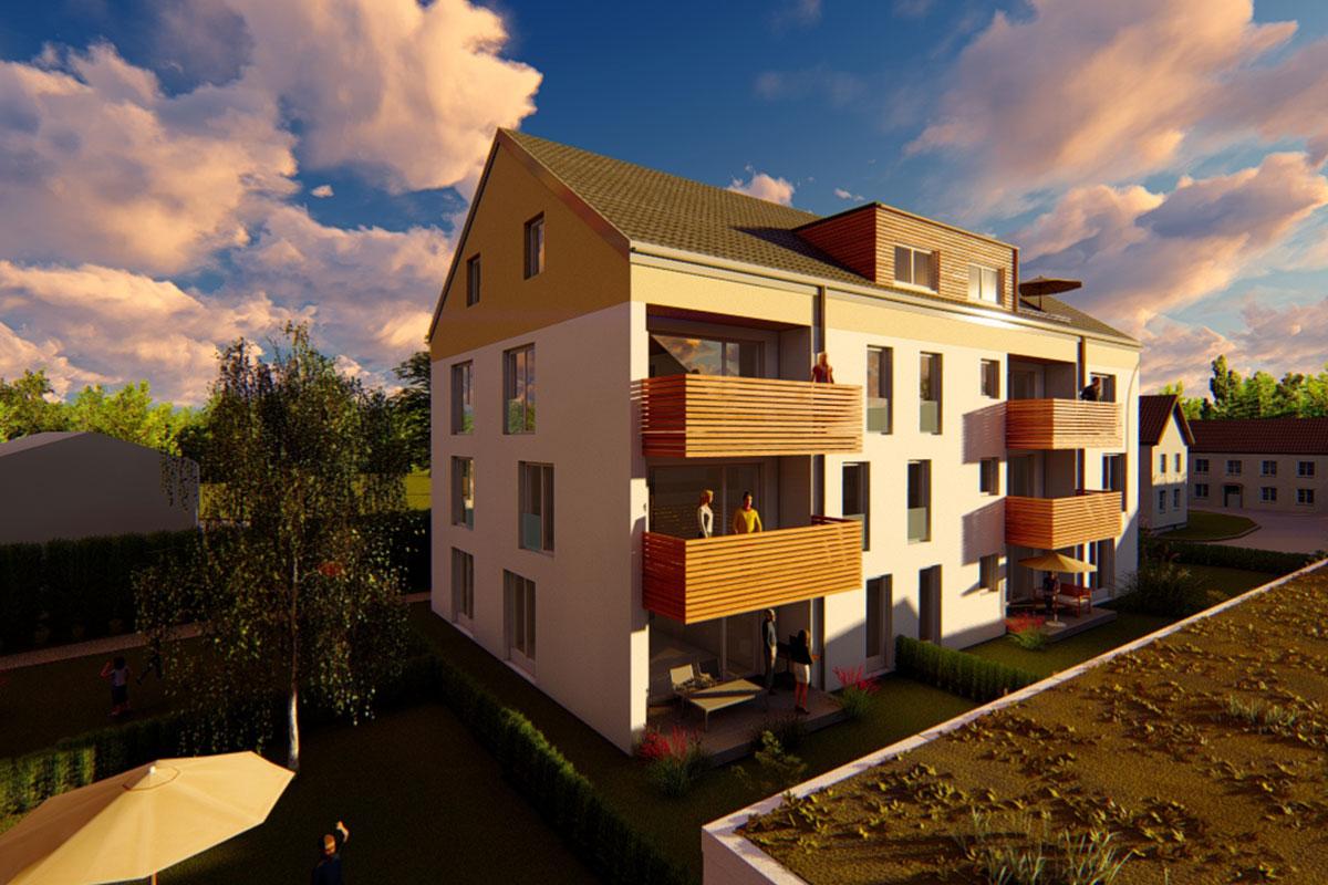 Genießen Sie die Abendsonne in Ihrer Eigentumswohnung im Bauvorhaben Südherz in Sontheim.