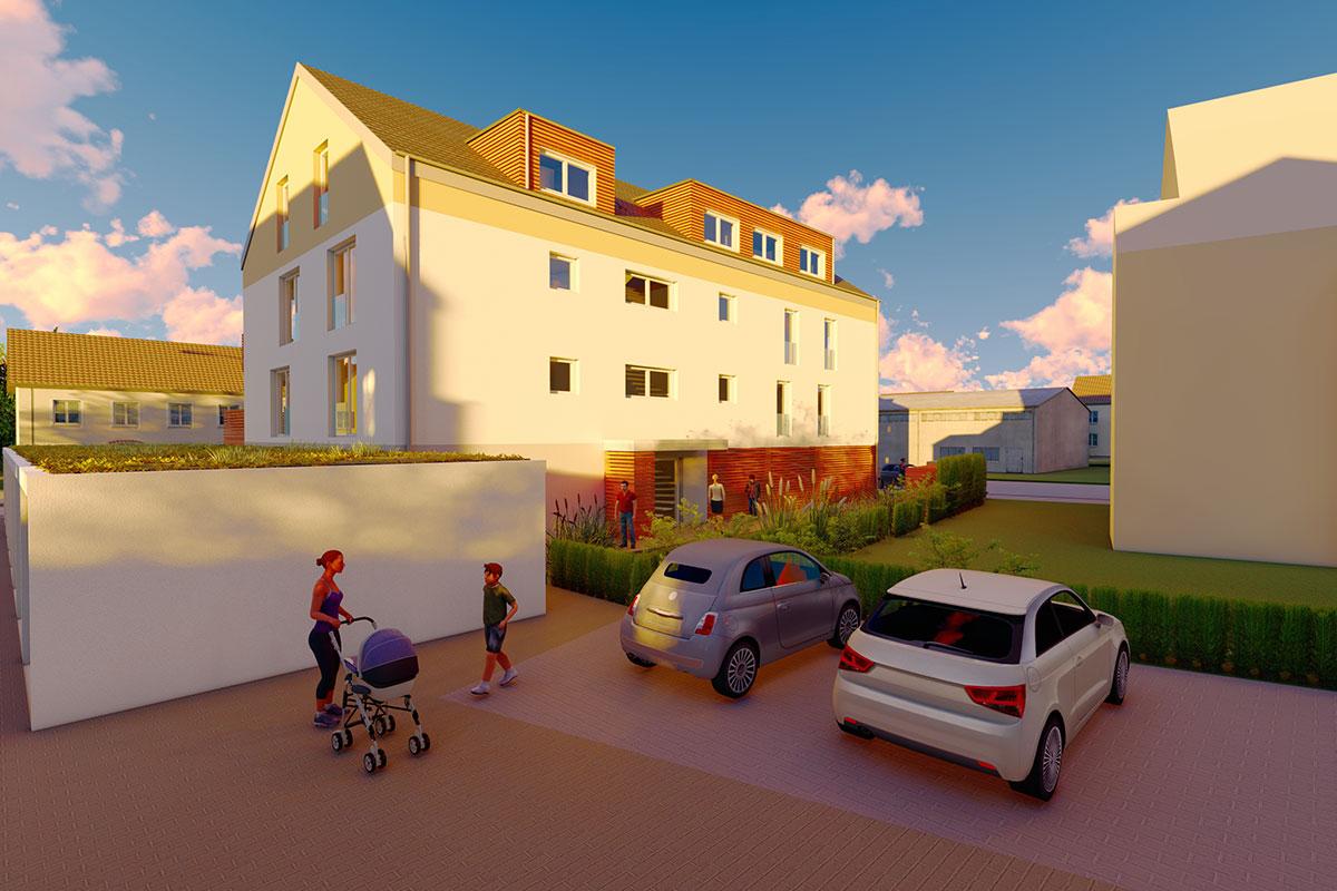 Es warten auf Sie einladende Eigentumswohnungen in Sontheim an der Brenz.