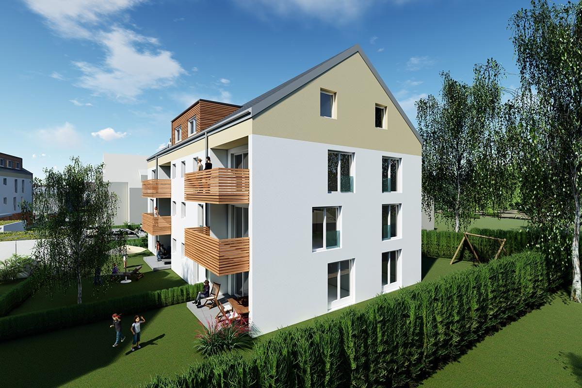 Die Eigentumswohnungen beim Bauvorhaben Südherz verfügen über großzügige Balkone und Terrassen. Lassen Sie sich kostenlos beraten.