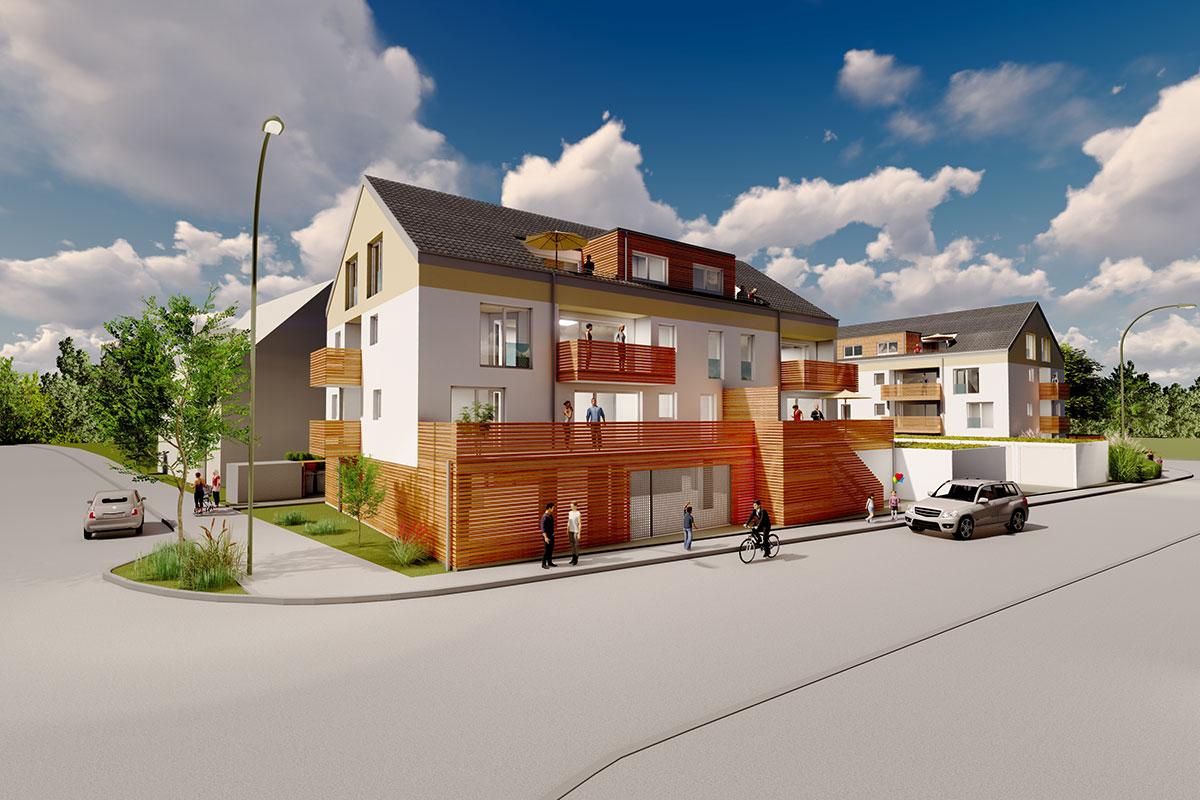 Sie sind auf der Suche nach einer barrierefreien Eigentumswohnung? Beim Bauprojekt Südherz finden Sie sie.