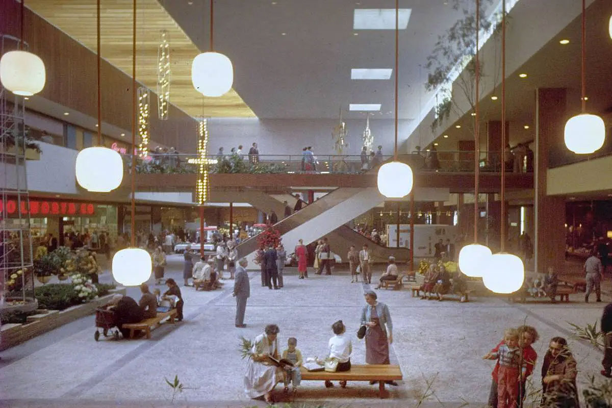 The Southdale Center in Edina, Minnesota in 1956. Life magazine photo archive